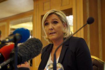 Marine Le Pen lors d'une conférence de presse en mai 2019