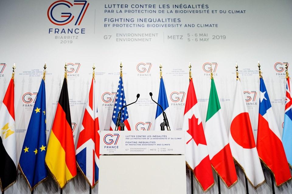 Drapaux des pays composants le G7