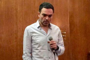 Yann Moix lors d'une conférence en 2017