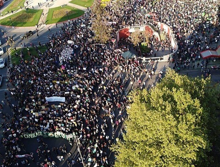 Une manifestation à Santiago en septembre 2019 en faveur du climat