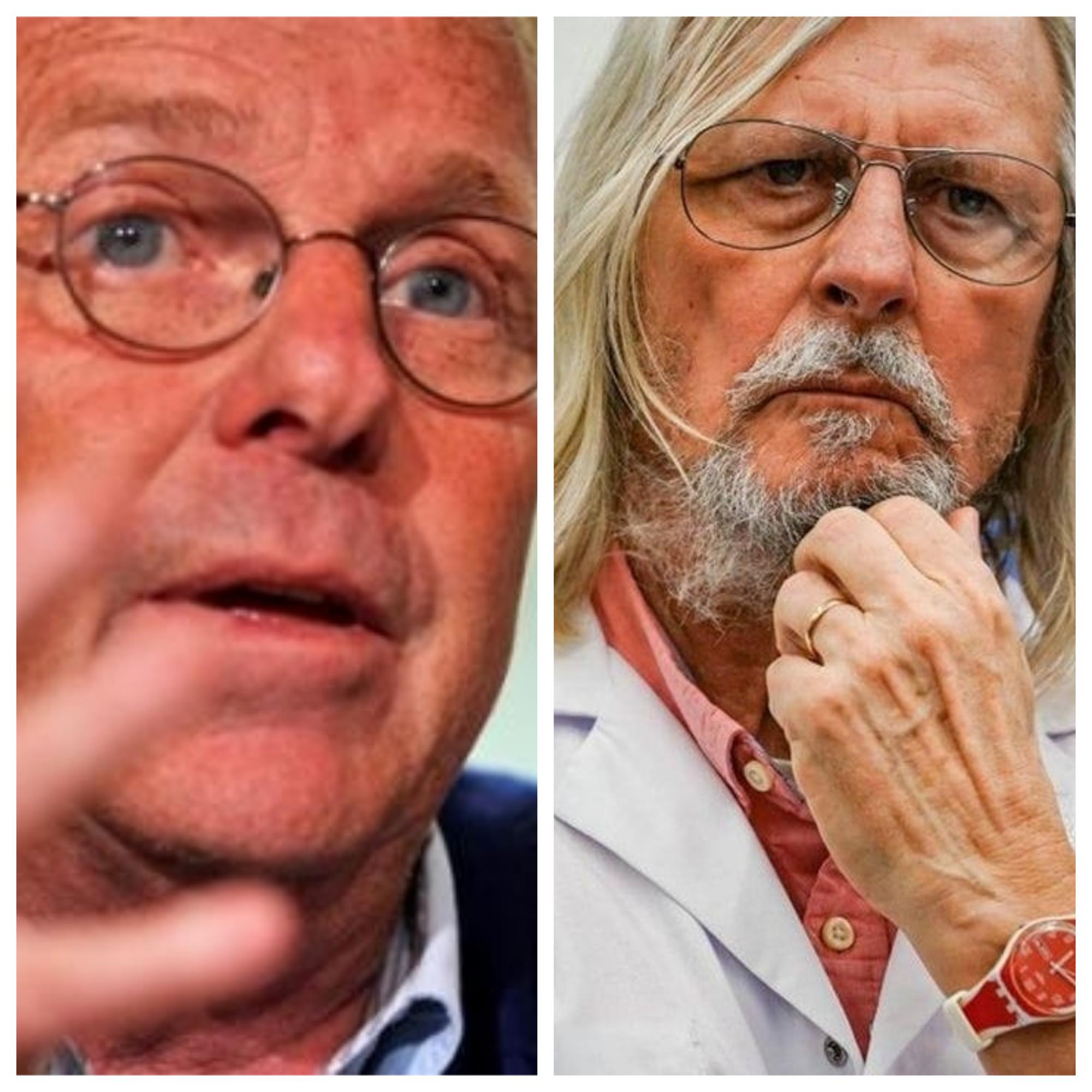 Photomontage de Daniel Cohn-Bendit (à gauche) et le Pr Didier Raoult (à droite).