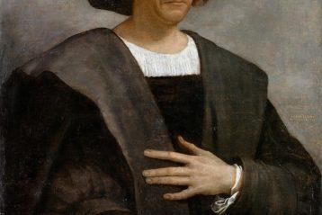 Portrait posthume de Christophe Colomb peint par Sebastiano del Piombo.