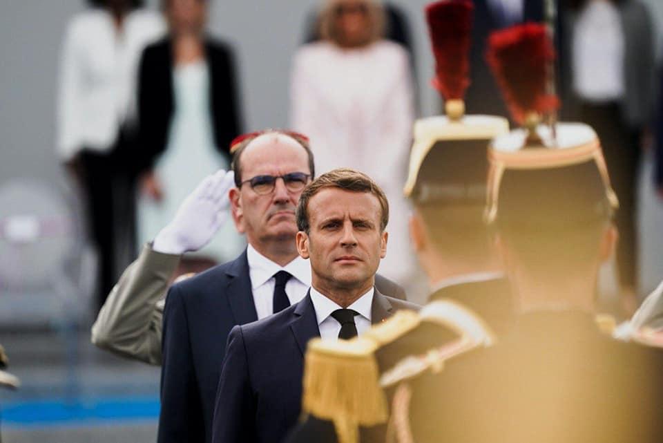 Emmanuel Macron et Jean Castex à la place de la Concorde, le 14 juillet 2020.